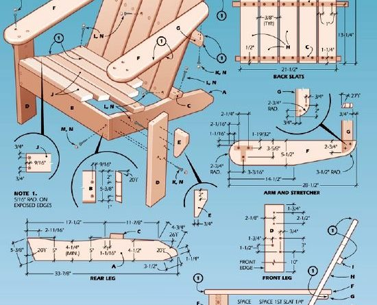 Small House Lot Plans and Woodworking Plans For Adirondack Chair