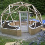 Great Outdoor Gazebo Plans With Fireplace and Greenhouse Plans Dome